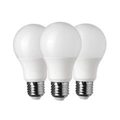 LED Plastic Bulb 3 Pieces Pack E27 A60 5 Years Warranty