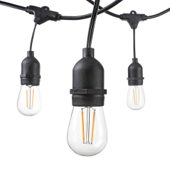 Outdoor String Light 15PCS E27 14.4M - Bulbs Not Included