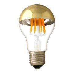 LED Bulb A60 Half Golden Glass