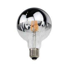 LED Bulb G95 E27 Half Silver Glass