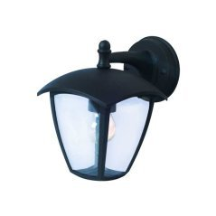 Wall Light Down Matt Black 1xE27