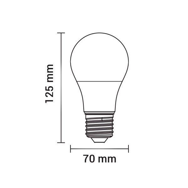 led plastic bulb a70 e27