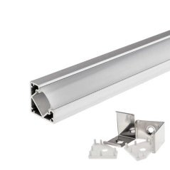 Aluminium Profile For LED Strip Angle  18mm 2 meter