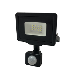 LED SMD Proyector Negro City Line Con Pir Sensor