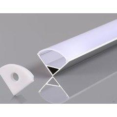 Aluminium Profile For LED Strip Ggray Angle 12mm L=2m