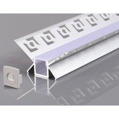 Aluminium Profile For LED Strip Ggray Built In (L=2m)