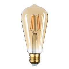 LED Candle ST64 8W Golden Glass Dimmable