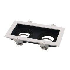 Spotlight Fixture Square Aluminium White/Black Max 35W